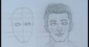 صورة تعليم رسم الوجه , خطوات لرسم الوجه للمبتدئين