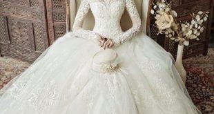صورة احدث الاطلالات التركية للزفاف , اجمل فساتين الزفاف التركيه