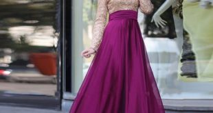 اميره ذات فستان ستان مميز , فساتين سهرة ستان