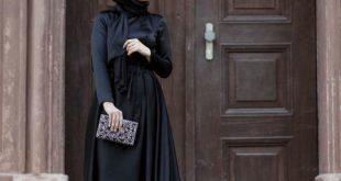 صورة ملك الالوان فى دولابك , فساتين سوداء للمحجبات