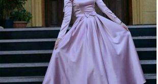 تألقي بأروع الفساتين , اجمل فساتين سهرة للمحجبات