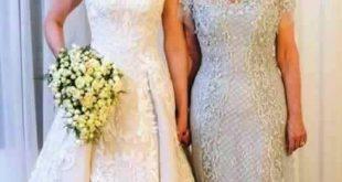 صورة فساتين ام العروس , تعرف علي ما ترتديه ام العروسة