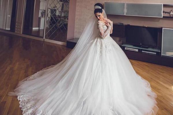 صورة فساتين زفاف منفوشة , اشكال فخمة للفساتين الزواج