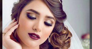 صورة تالقي يوم الزفاف بطله مميزه , مكياج عرايس ناعم