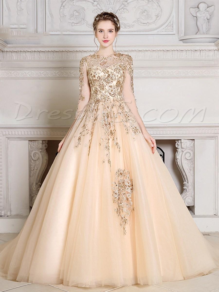 صورة فستان خطوبة محجبات 5646 3